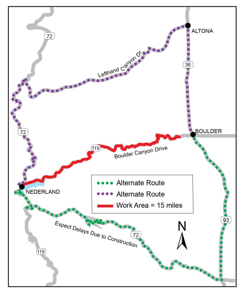 CO 119 detour map