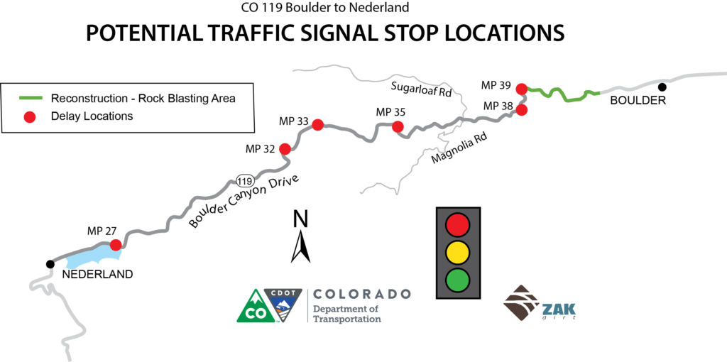 CO119 traffic signal stops